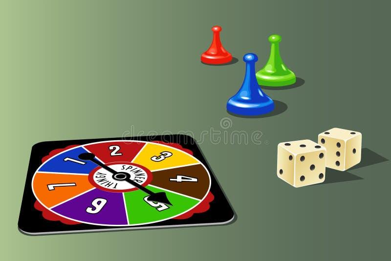 De Elementen van het Spel van de raad vector illustratie