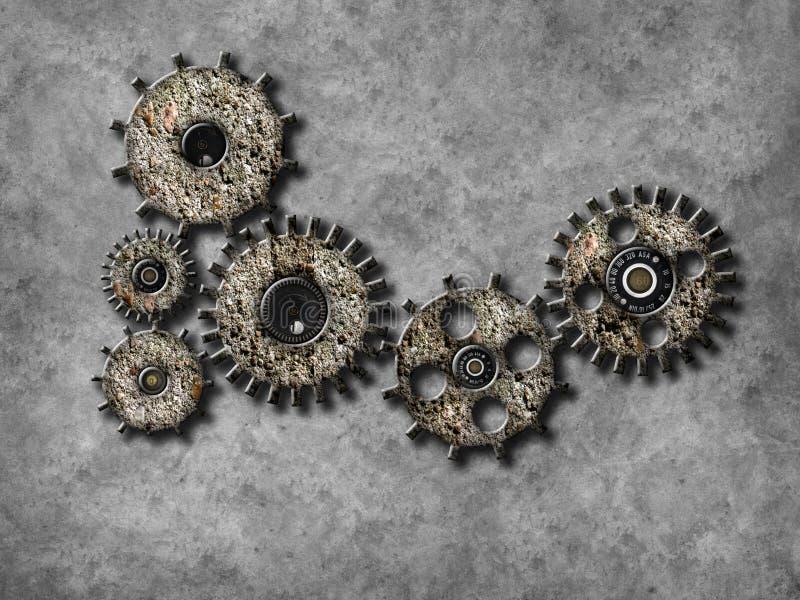 De elementen van het toestelwiel, Organisatie bedrijfsconcept stock illustratie