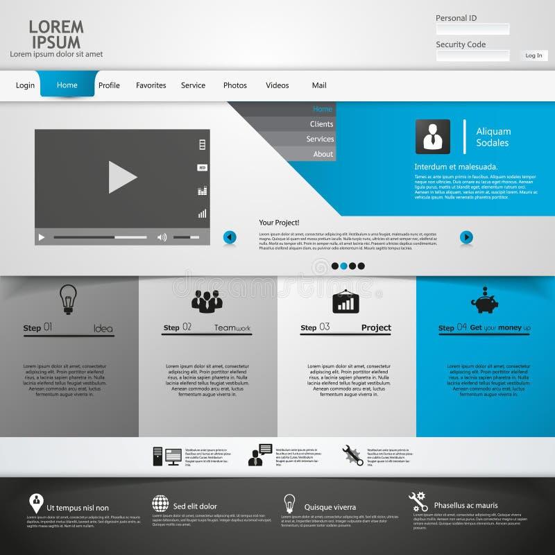 De elementen van het Webontwerp. Malplaatjes voor website. vector illustratie