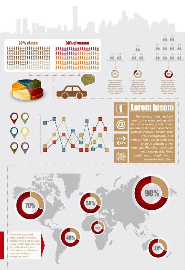 De elementen van Infographic
