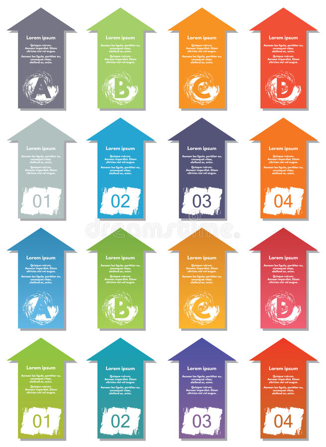 De elementen van Infographic #17 royalty-vrije illustratie