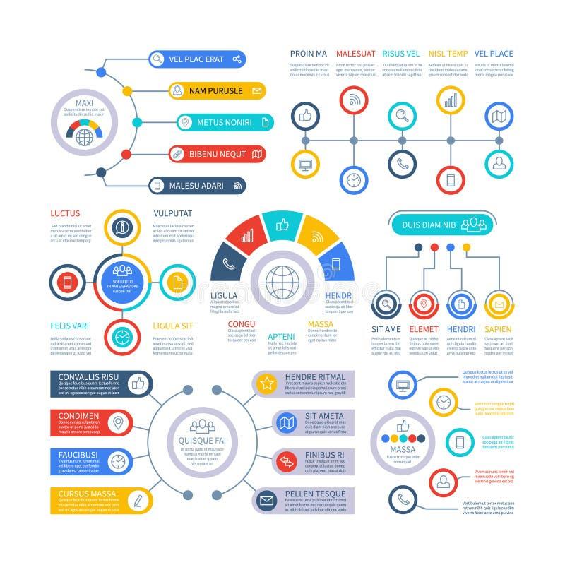 De elementen van Infographic Financiële presentatie infochart, marketing grafiek en staafdiagrammen De grafiek van het optieproce royalty-vrije illustratie