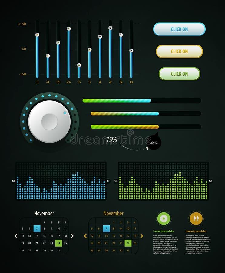 De elementen van Infographics stock illustratie