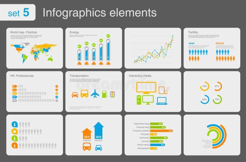 De elementen van Infographics met pictogrammen stock illustratie