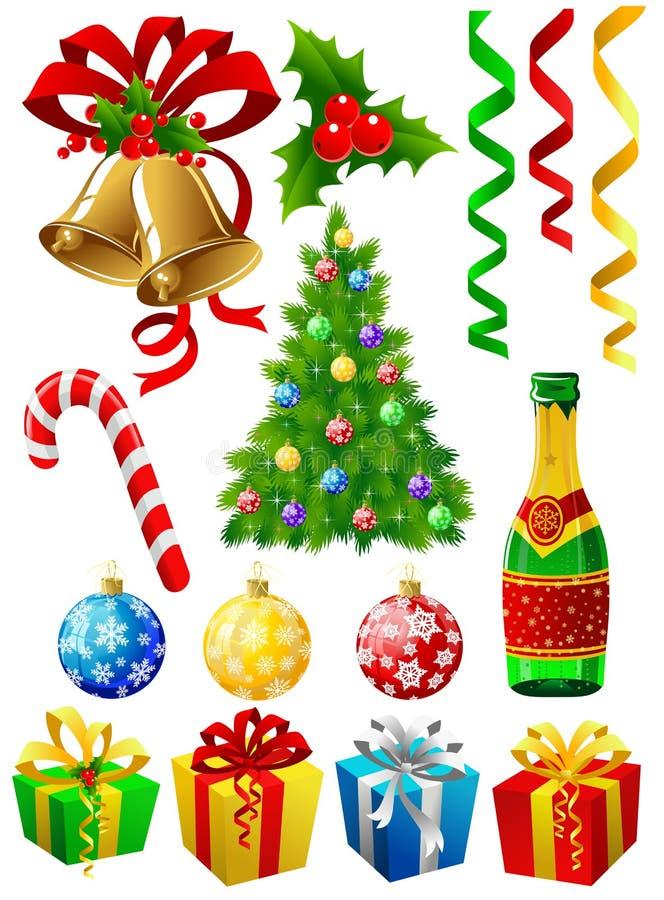 De elementen van Kerstmis stock illustratie