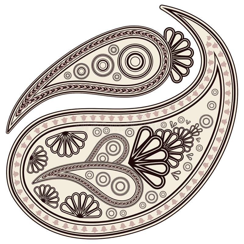 De elementen van Paisley. royalty-vrije illustratie