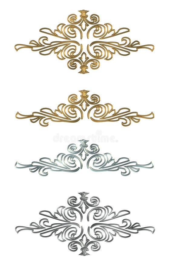De elementenGoud en zilver van het ontwerp royalty-vrije illustratie