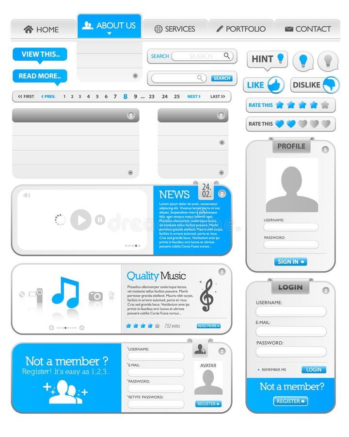 De elementenmalplaatje 1 van het Web stock illustratie