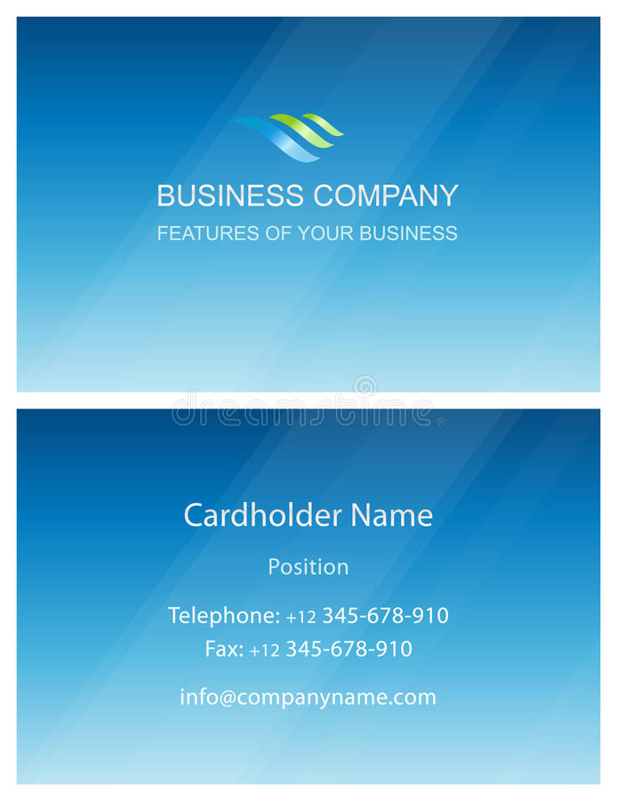 De elementenmalplaatje van het bedrijfsvisitekaartjeontwerp stock illustratie