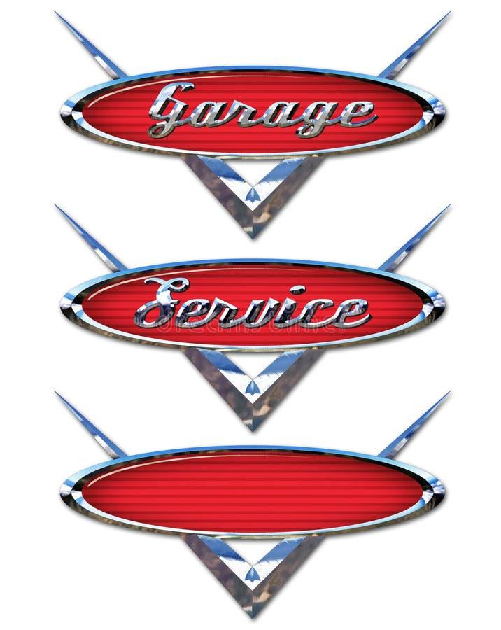 De Emblemen van de garagedienst stock illustratie