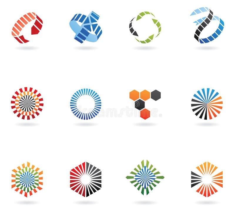 De emblemen van de pijl royalty-vrije illustratie