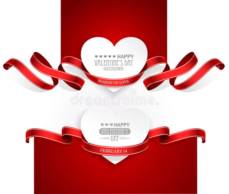 De emblemen van de valentijnskaartendag