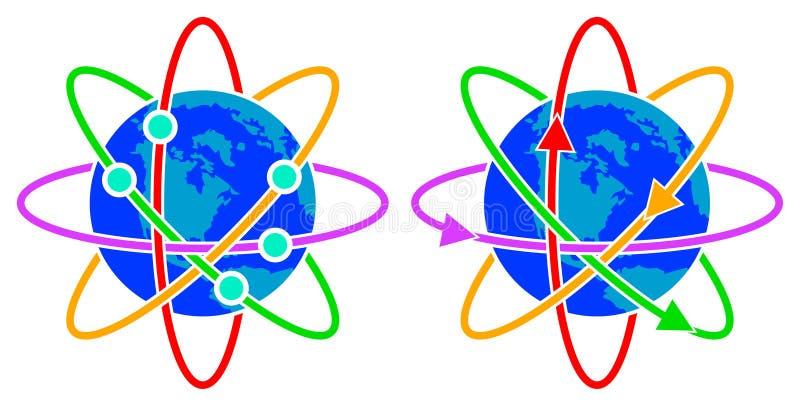 De emblemen van Glob vector illustratie