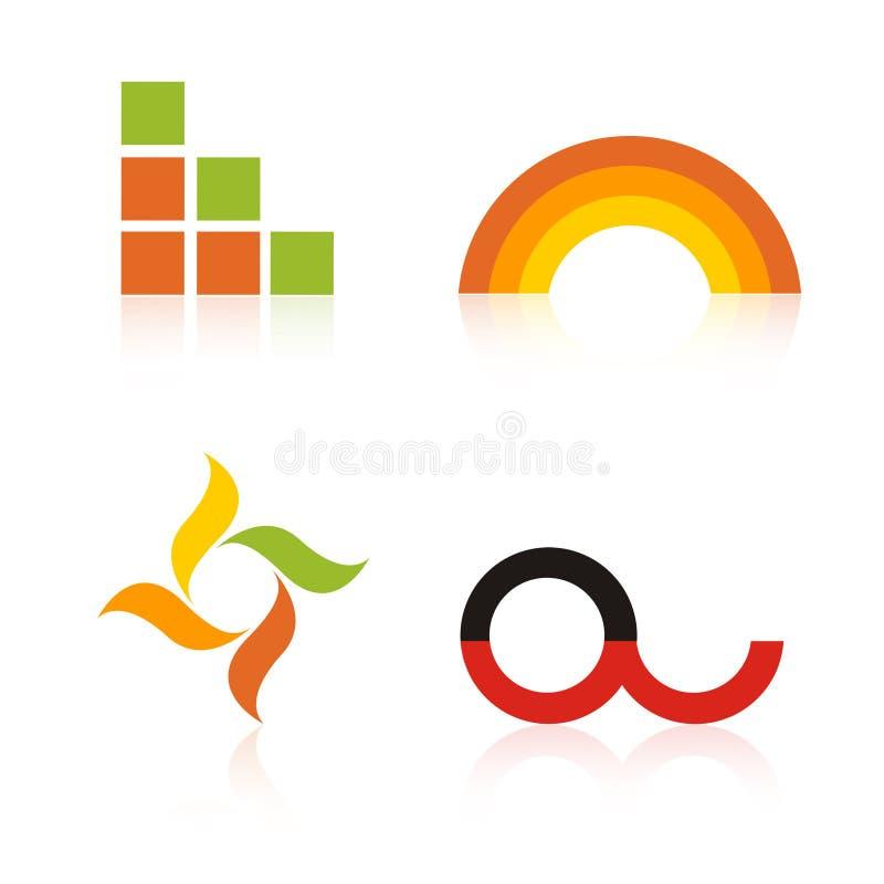 De Emblemen van het bedrijf/de elementen van het Embleem vector illustratie