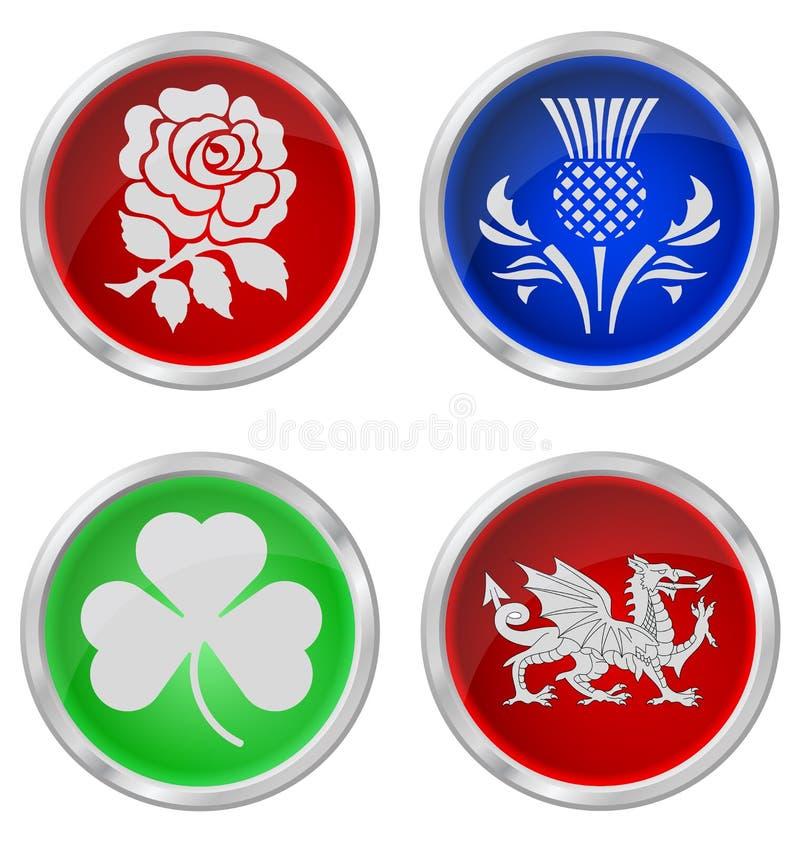 De emblemen van het Verenigd Koninkrijk royalty-vrije illustratie