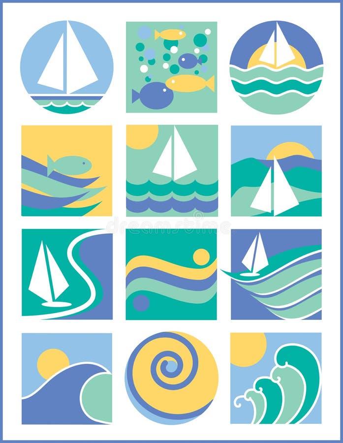 De Emblemen van het water vector illustratie
