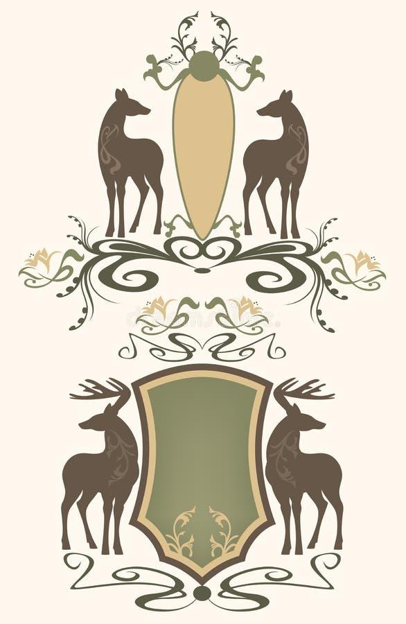 De emblemen van het wild vector illustratie