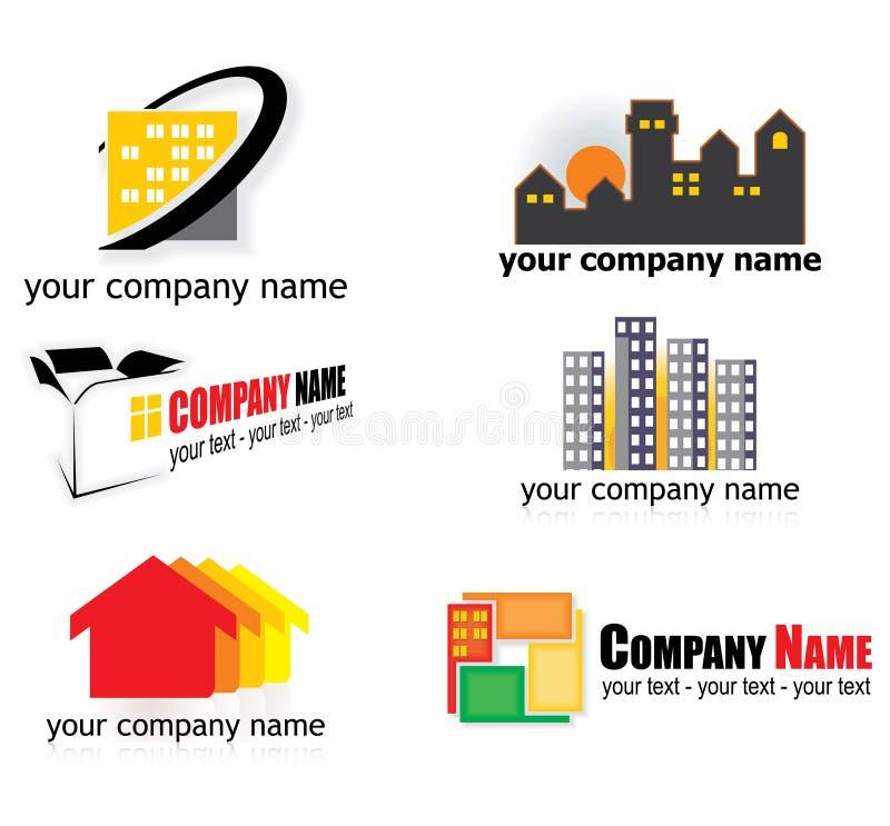 De emblemen van onroerende goederen vector illustratie