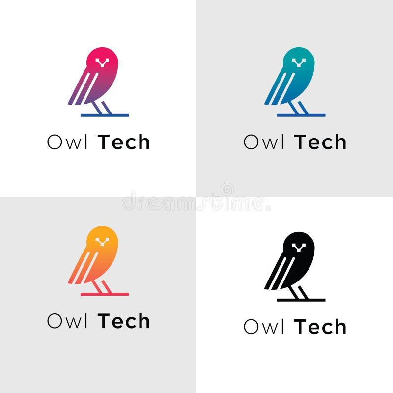 De Emblemen van Technologie van de malplaatjevogel royalty-vrije illustratie