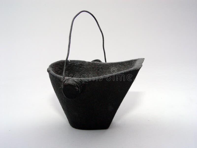 De Emmer van de steenkool royalty-vrije stock afbeelding
