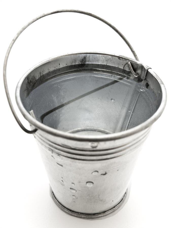 De emmer van het metaal royalty-vrije stock foto