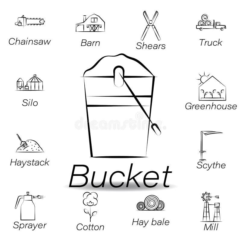 De emmerhand trekt pictogram Element van de landbouw van illustratiepictogrammen De tekens en de symbolen kunnen voor Web, emblee vector illustratie