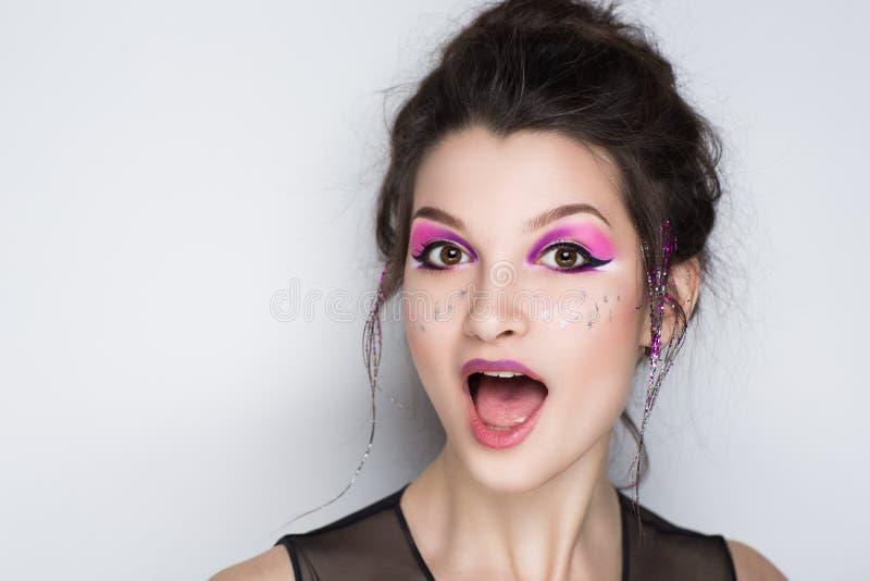 De emoties van het vrouwengezicht royalty-vrije stock fotografie