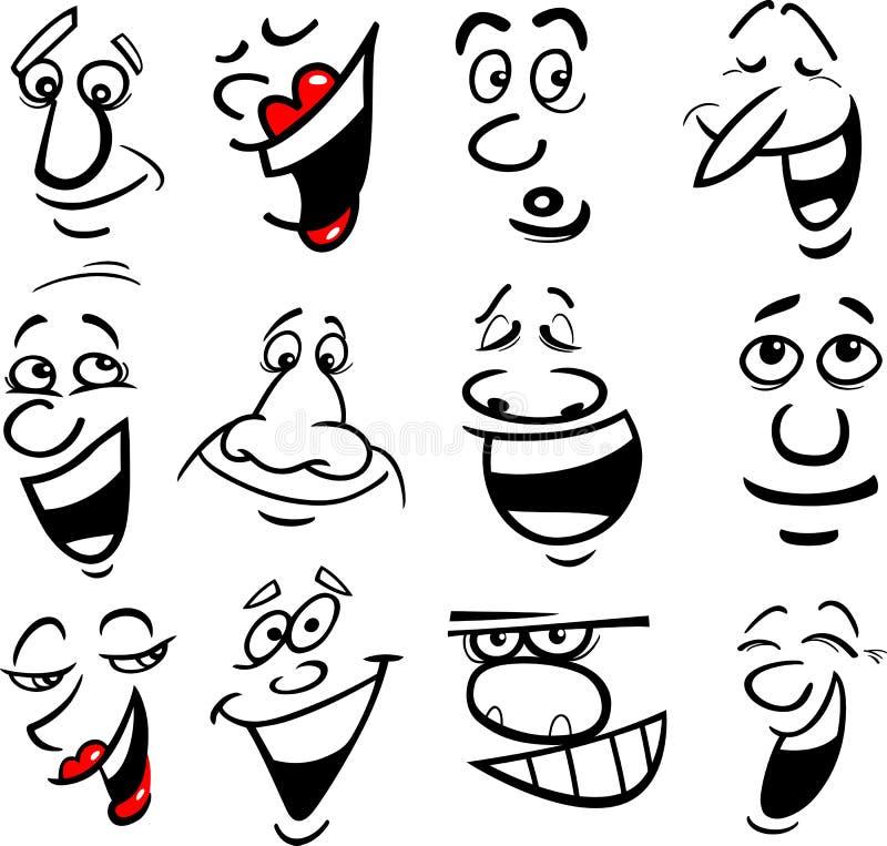 De emotiesillustratie van het beeldverhaal vector illustratie
