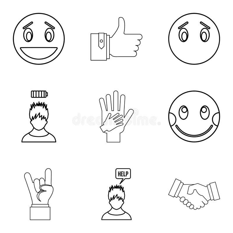 Download De Emotionele Geplaatste Pictogrammen, Schetsen Stijl Vector Illustratie - Illustratie bestaande uit hoofd, geluk: 107707693