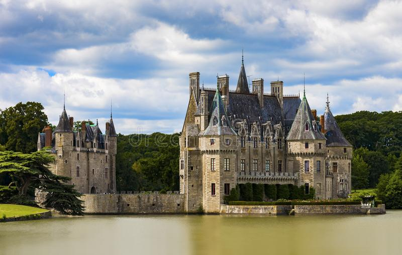 15de en 16de Century Chateau DE La Bretesche royalty-vrije stock foto's