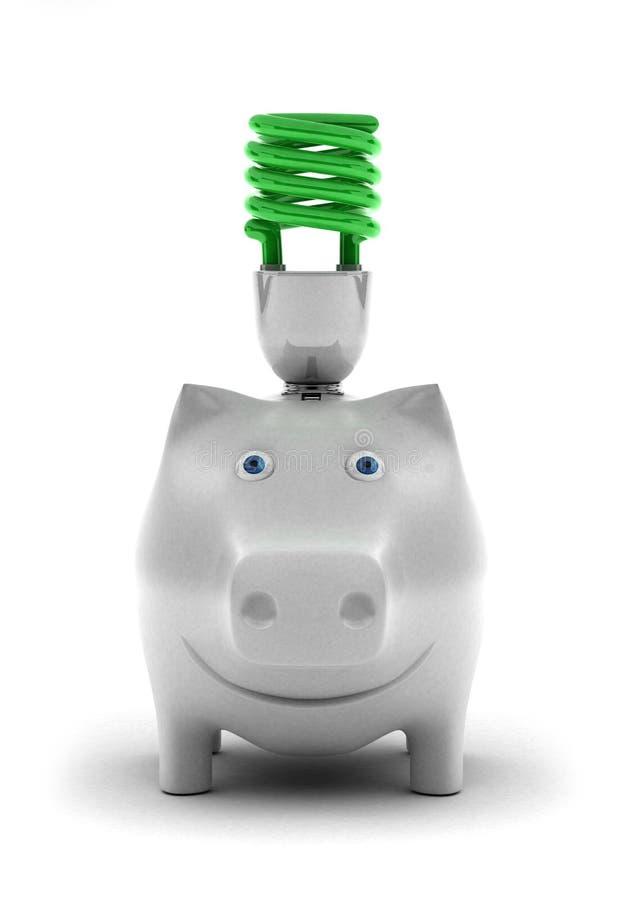 De energie van de besparing stock foto's