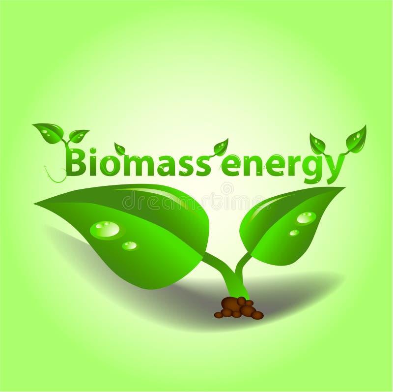 De energie van de biomassa royalty-vrije illustratie