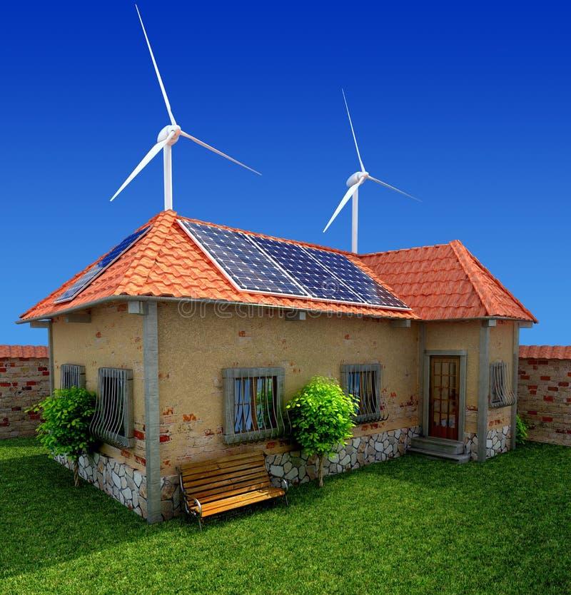 De energie van het huis - besparingsconcept vector illustratie