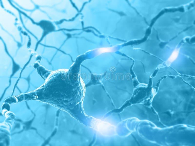 De Energie van het neuron royalty-vrije illustratie