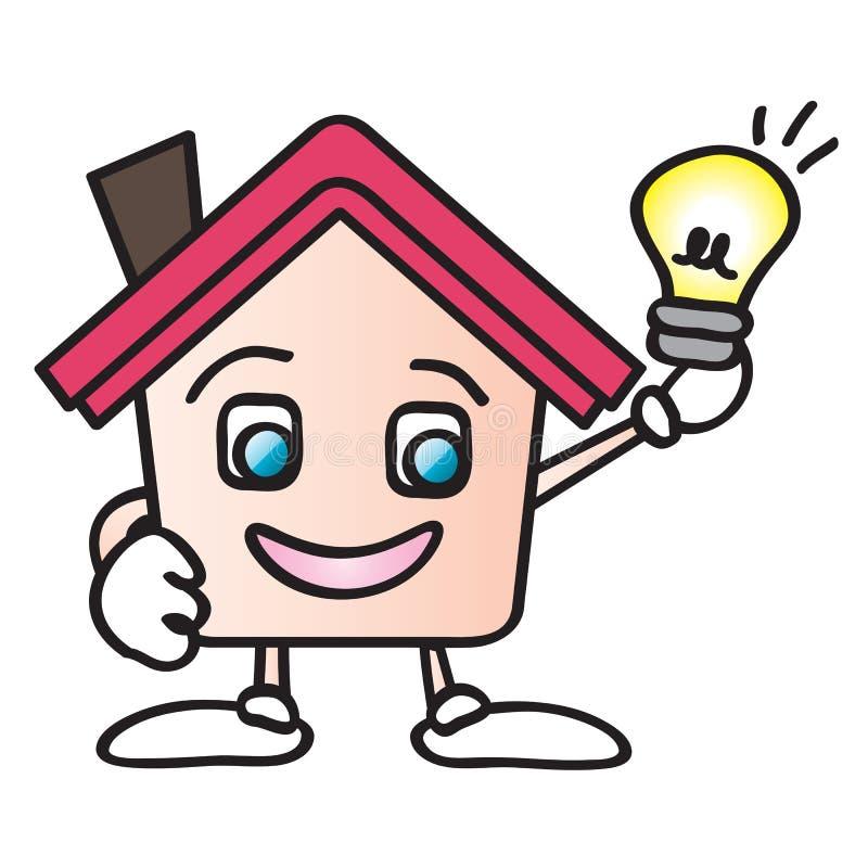 De energiebeeldverhaal van het huis vector illustratie