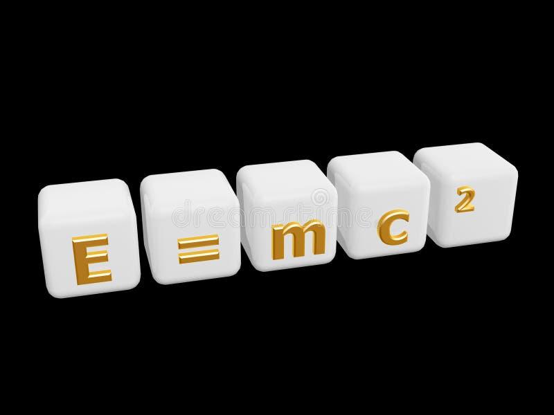 De energiegelijkwaardigheid van de massa vector illustratie