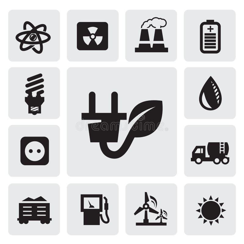 De Energiepictogrammen Van Eco Royalty-vrije Stock Foto