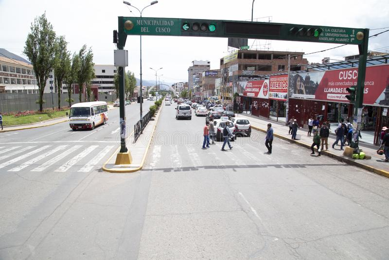 20 de enero de 2019 calles de la ciudad de Cusco Perú foto de archivo