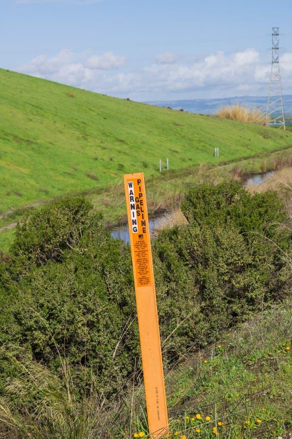 22 de enero de 2017, Sunnyvale, California, los E.E.U.U. - marcador de cuidado cerca del rastro de la bahía, sur San Francisco Ba fotografía de archivo libre de regalías