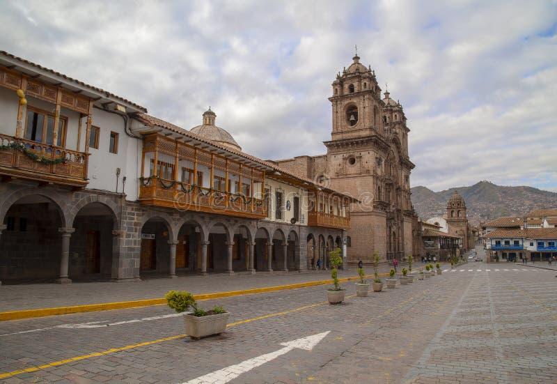 20 de enero de 2019 vista panorámica de la plaza de Armas Cusco, Perú imagen de archivo libre de regalías