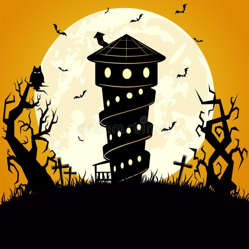 De enge achtergrond van Halloween vector illustratie