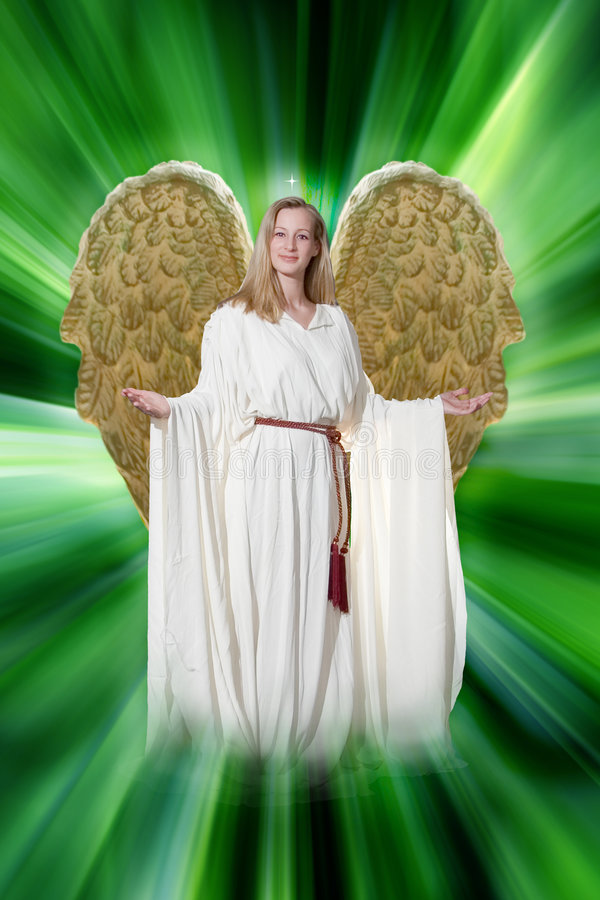 De Engel aa van de Aarde van de blonde stock afbeelding