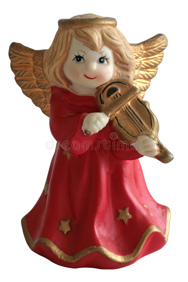 De Engel die van Kerstmis een viool speelt stock afbeelding