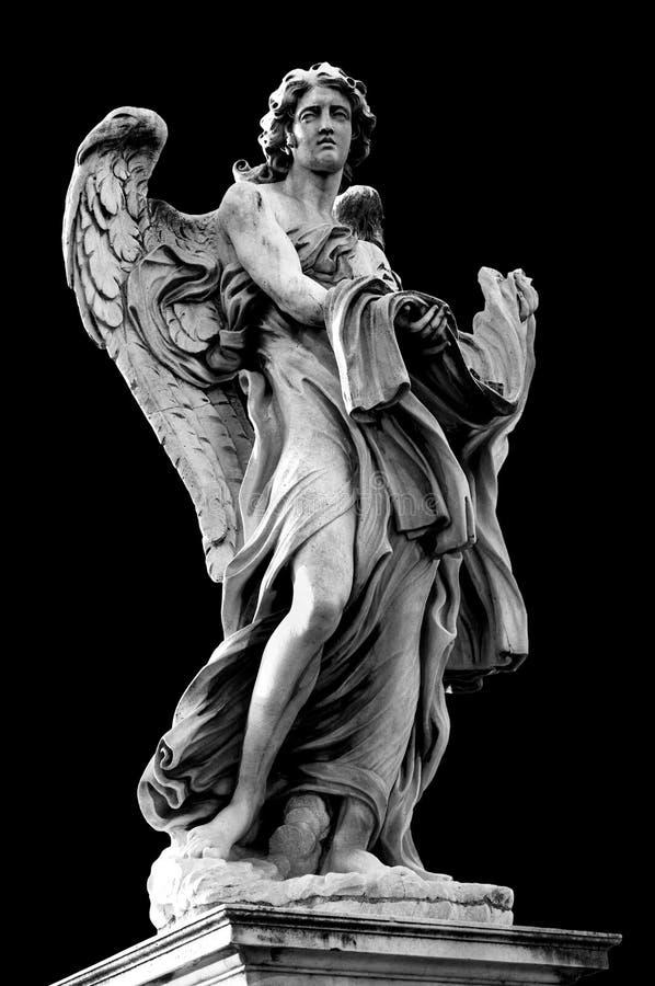 De engel met het Kledingstuk en dobbelt royalty-vrije stock fotografie