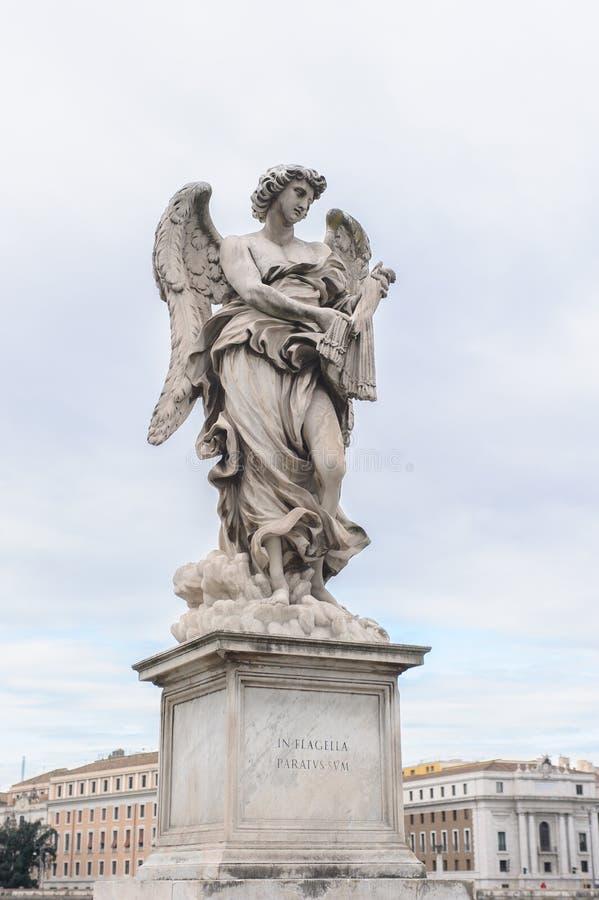 De engel met ranselt stock foto