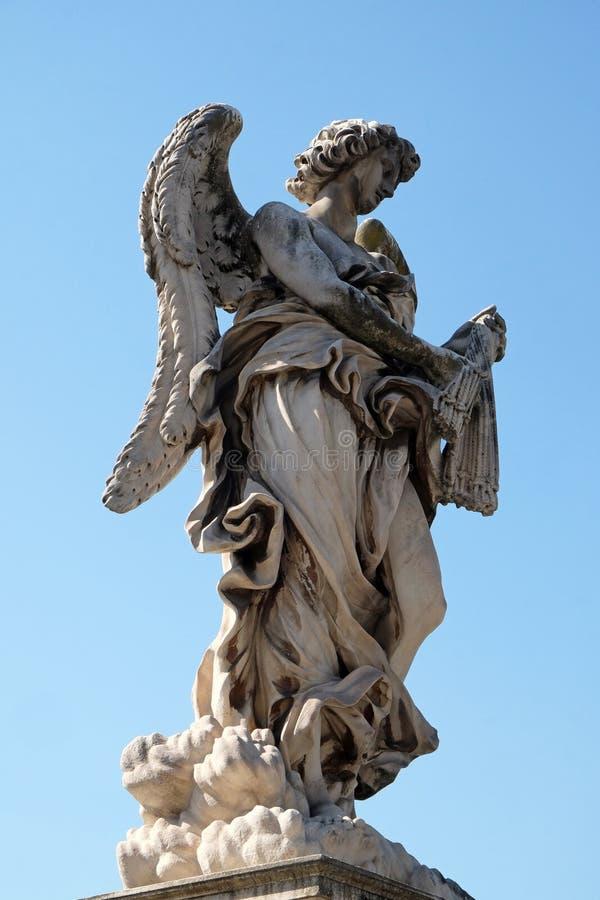 De engel met ranselt royalty-vrije stock foto