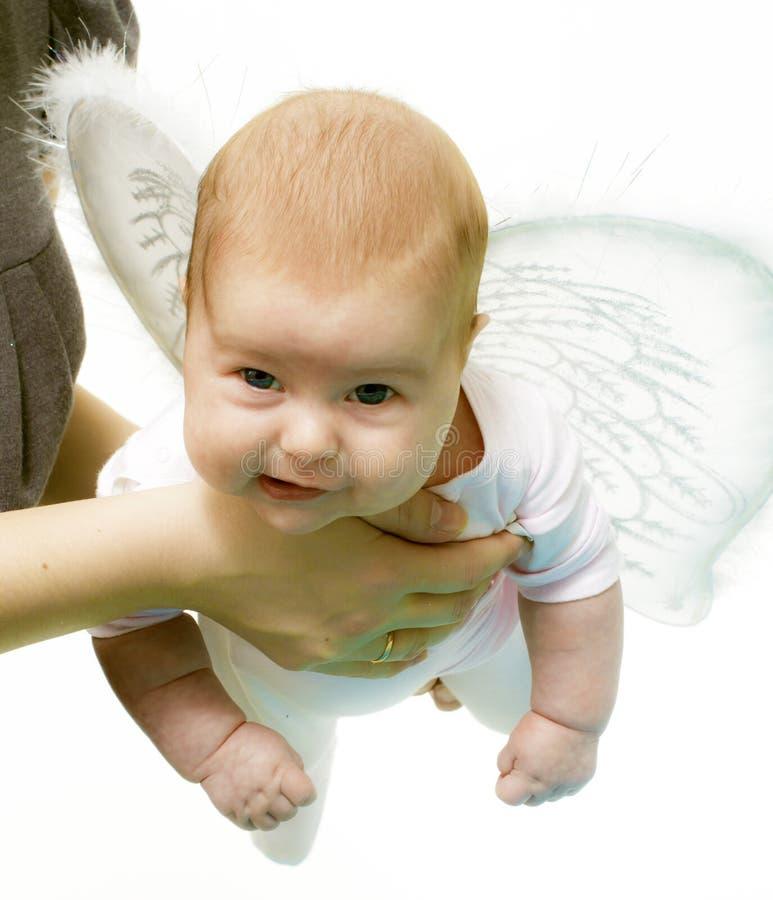 De engel onderwijst om te vliegen stock afbeelding