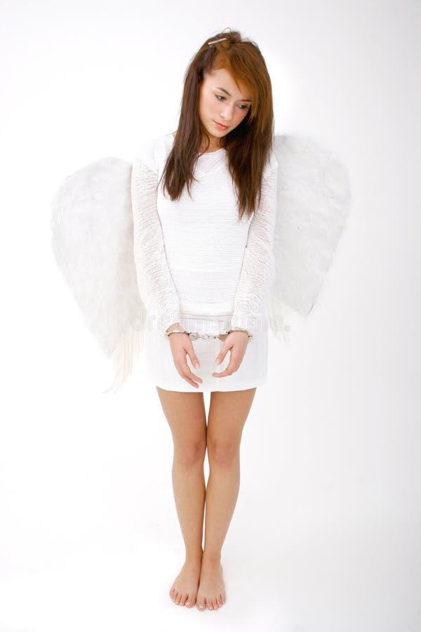 De Engel van Cuffed van de hand royalty-vrije stock afbeeldingen