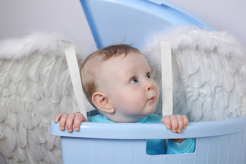 De engel van de baby stock foto's