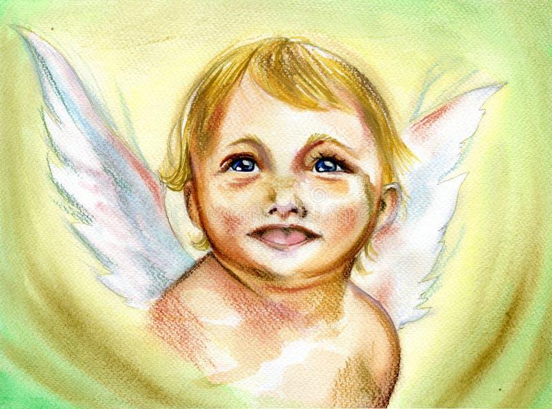 De Engel van de baby royalty-vrije illustratie